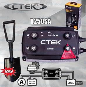 Ctek D250sa Dual Battery Smart Charger 12 Volt Solar