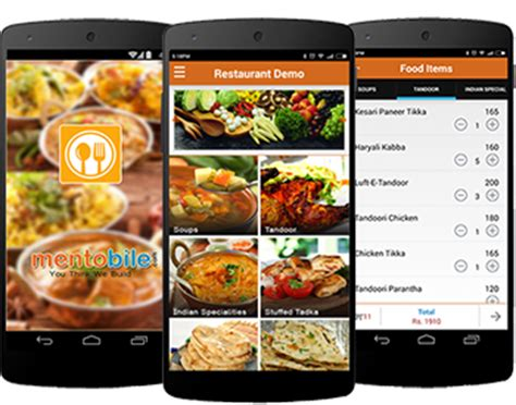 application android cuisine food ordering app demo for android iphone windows