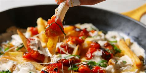 margherita pizza fries recipe delishcom