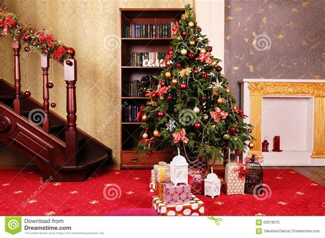 Cozy Christmas Home Decor: Cozy Home Interior, With Christmas Tree And New Year