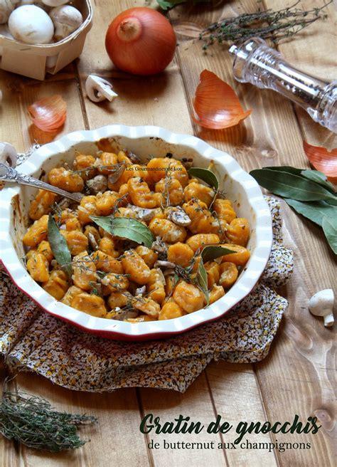 cuisiner le butternut gratin de gnocchis de butternut aux chignons les