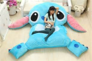 american anime lilo and stitch plush stuffed laege seat cushion bed mattress mat