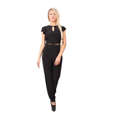and black jumpsuit black jumpsuit with floaty sleeves parisia