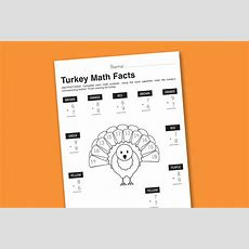 Worksheet Wednesday Turkey Math Facts  Paging Supermom