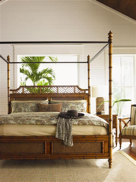bahama home island estate size west indies canopy bed baer s furniture canopy beds