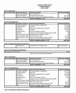 school budget templates 5 free samples examples With high school football program template