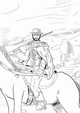 Clint Eastwood Coloring Sketches Colouring sketch template