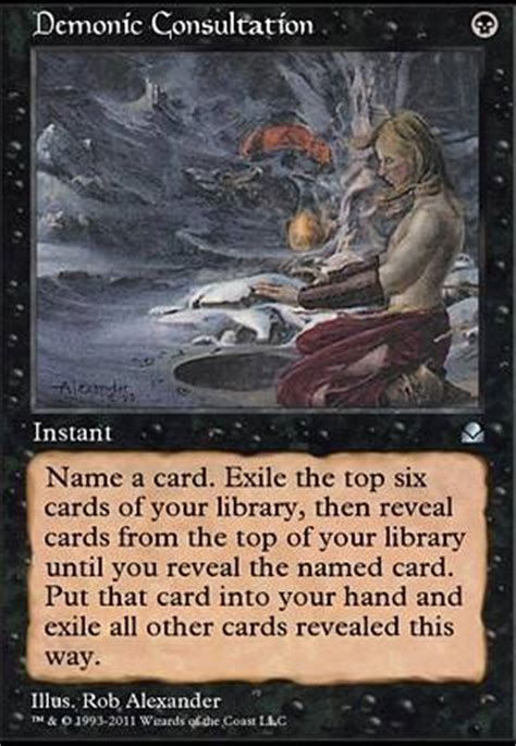 necropotence deck tapped out demonic consultation me2 mtg card