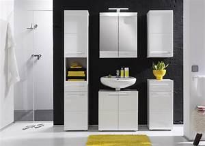 Salle De Bain Meuble : meuble haut de salle de bain design laqu blanc obra ~ Dailycaller-alerts.com Idées de Décoration