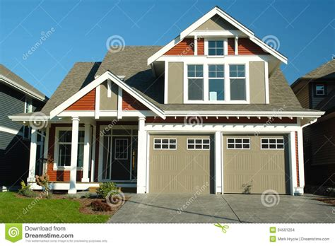 Image Of New Home by New Home House Exterior Stock Images Image 34561204