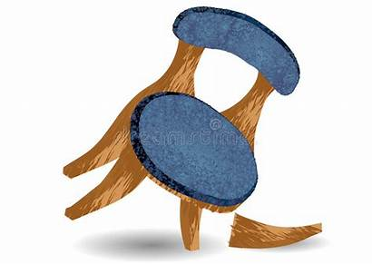 Broken Chair Leg Cartoon Illustration Vector Glass