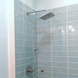 lush vapor 4x12 pale blue glass subway tile shower installation modwalls bathrooms