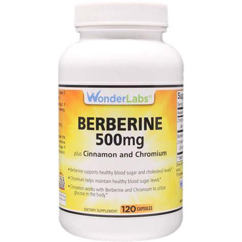 berberine  mg cinnamon  chromium qty