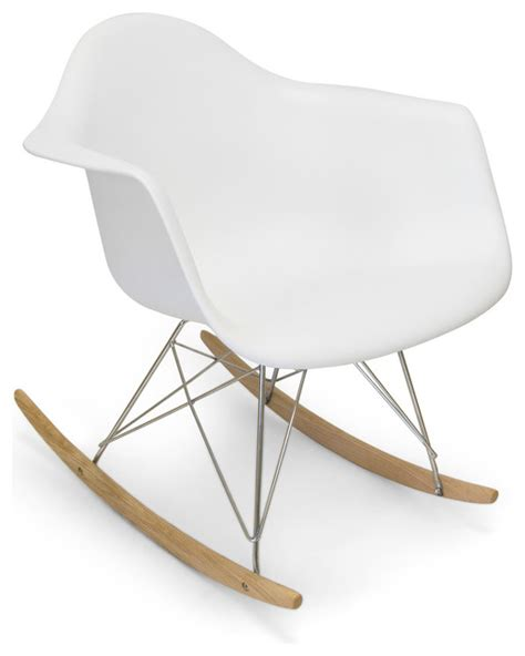 molded plastic rocker white modern rocking chairs