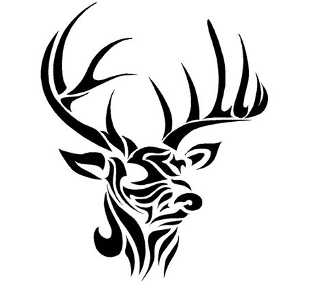 deer tribal decal google search stencils pinterest