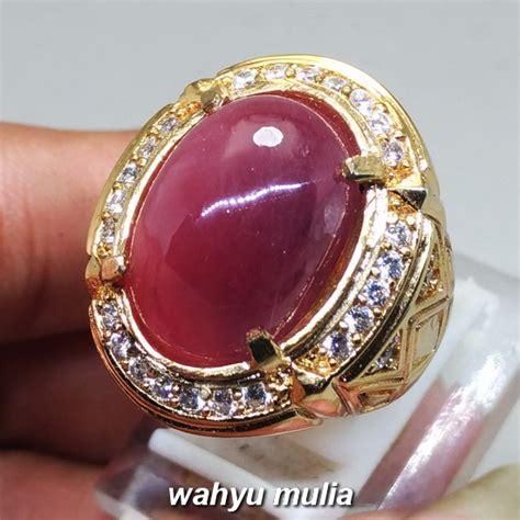 cincin batu akik merah ruby daging asli kode 1201