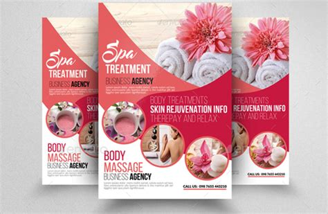 Salon Brochure Templates Free by 23 Spa Flyers Free Psd Ai Eps Format Free