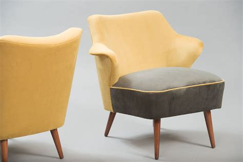 Vintage Velvet Armchairs, Set Of 2 For Sale At Pamono