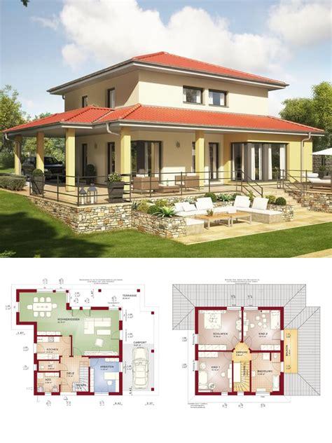 stadtvilla landhaus architektur mediterran mit walmdach