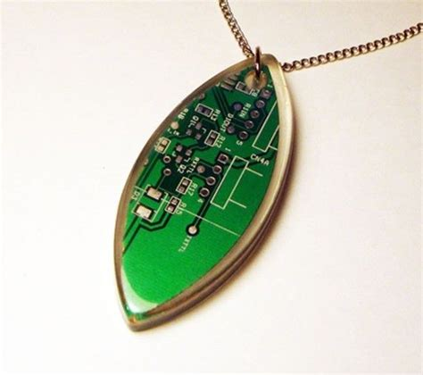 Computer Circuit Board Necklace Other Great