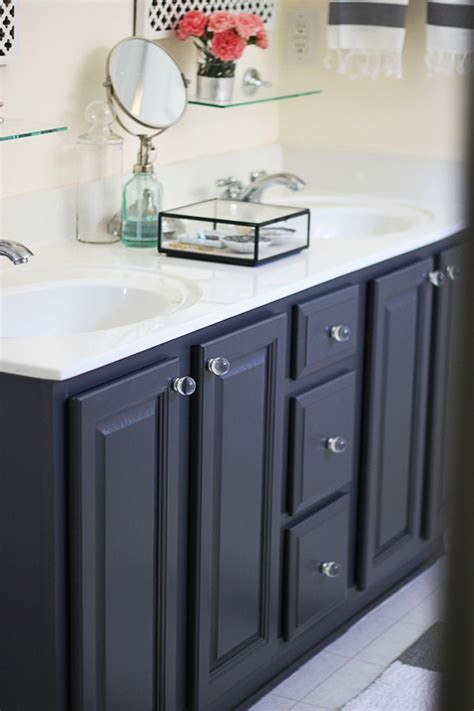 best paint for bathroom cabinets 39 gray 39 by ben moore my painted bathroom vanity before