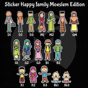 Jual Sticker Happy Family Warnamuslim Editionhappy