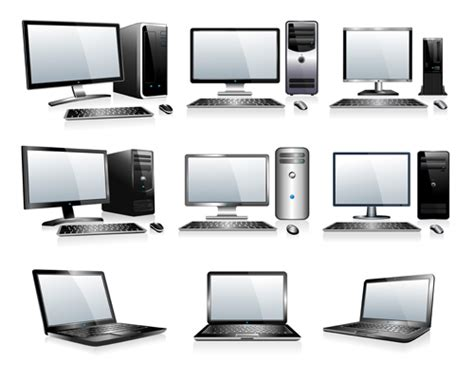 Different Computers Illustration Vector Free Download