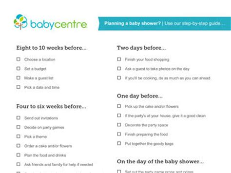 list for a baby shower throwing a baby shower babycentre uk