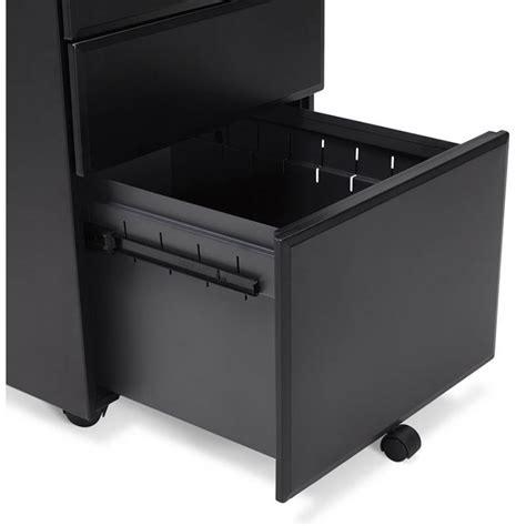 caisson bureau noir caisson de bureau design 3 tiroirs mathias en métal noir