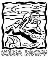 Coloring Diving Scuba Diver Crayola Printable Sheets Sea Colored Under Clipart sketch template