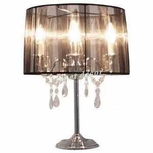 Lampe De Chevet Baroque : lampe de chevet noire chandelier baroque noir achat vente lampe a poser pas cher couleur et ~ Teatrodelosmanantiales.com Idées de Décoration