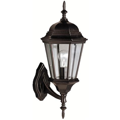 kichler outdoor lighting kichler outdoor wall light with clear glass in black