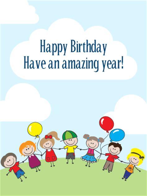 birthday party card  kids birthday greeting cards  davia