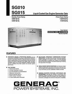 Generac Power Systems Sg015 User Manual