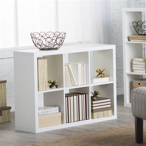 Cube Bookcase White by Hudson 6 Cube Bookcase White Bookcases At Hayneedle