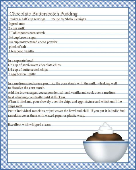 full page recipe templates google search recipe template