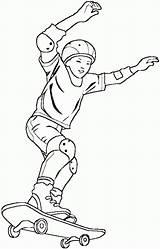 Coloring Skateboarding Boy Skateboard Printable Drawings Sport Pdf Coloriage Imprimer Pour Riding sketch template