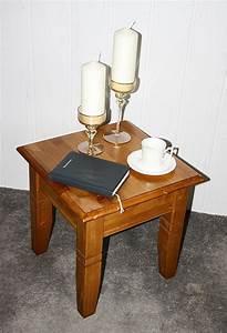 Couchtisch Quadratisch Holz : couchtisch quadratisch beistelltisch 45x45cm holz massiv honigfarben ~ Buech-reservation.com Haus und Dekorationen