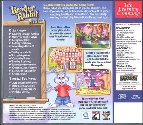 reader rabbit preschool sparkle rescue 030257 360 | 030257b