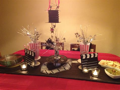 pin hollywood party supplies awards night decorations cake