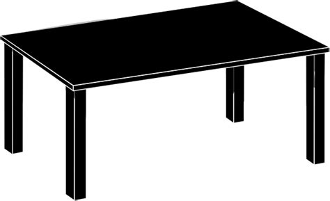 black and white table l clip art black and white table clipart clipart suggest