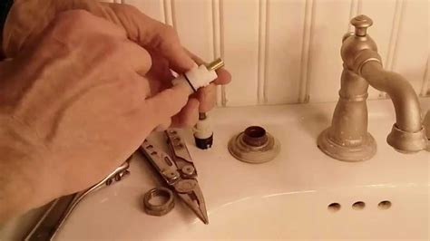 fix  leaky delta  handle faucet youtube