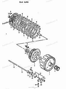 suzuki motorcycle 1972 oem parts diagram for clutch With diagram of suzuki motorcycle parts 1972 ts125 kick starter diagram