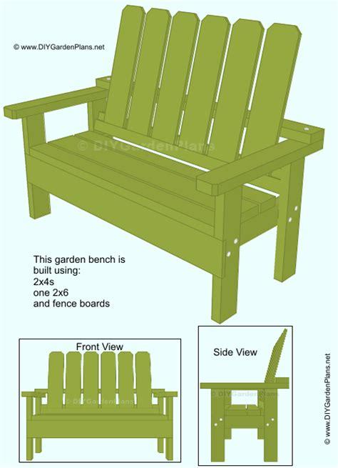 garden bench guide simple  build garden bench
