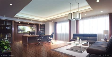 Digital Office Wallpaper by Luxury Office Day Visual Novel Background By Giaonp