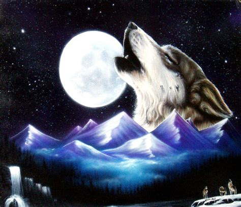 wolf howling   moon wallpaper wallpapersafari