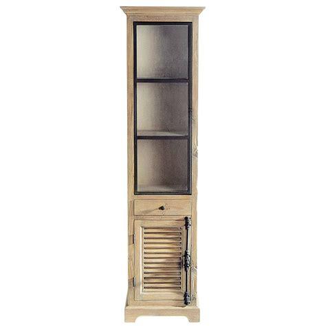 vitrine maison du monde vitrine en bois recycl 233 l 52 cm persiennes maisons du monde