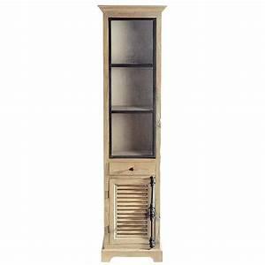 Vitrine En Bois : vitrine en bois recycl l 52 cm persiennes maisons du monde ~ Teatrodelosmanantiales.com Idées de Décoration