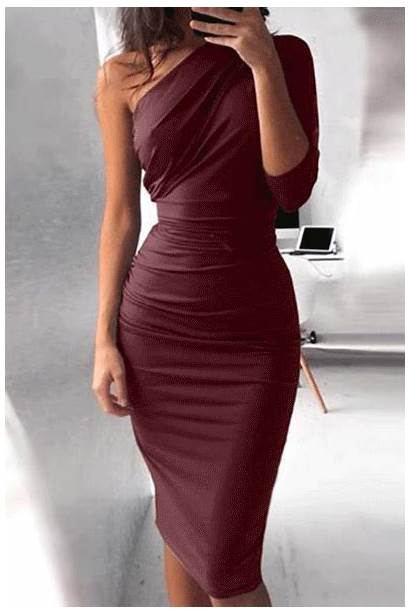 Bodycon Dresses Shoulder Tight Summer Prom Party