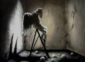 Sad angel ( oil painting ) (Acrylics on canvas)